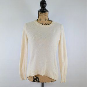 Madewell Back Zip Cream Knit Sweater size small